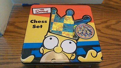 THE SIMPSONS Chess Set 1998 Collector Tin