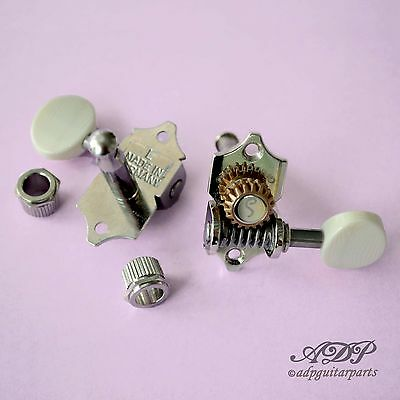 MECANIQUES SCHALLER GRAND TUNE NICKEL Tuners GALALITH button 3+3 WAVERLY 1:18