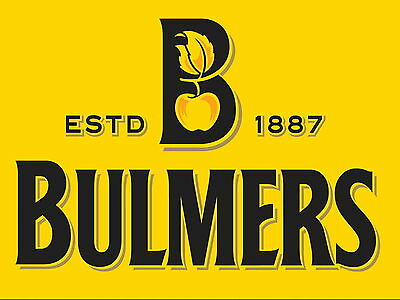 Bulmers cider Retro metal Aluminium Sign vintage bar pub man cave beer signs den