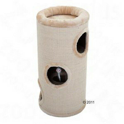 Cat Tree - Diogenes Scratching Barrel - Beige: H 75 x diameter 36 cm