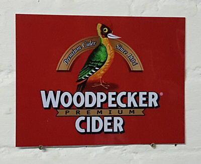 Woodpecker cider Retro metal Aluminium Sign vintage bar pub man cave beer signs