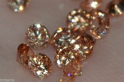 ***Flawless***3mm IF Brilliant Cut Russian Simulated Champagne Diamonds