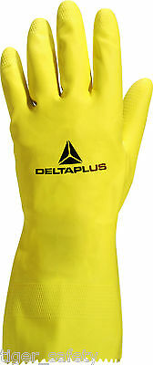 Delta Plus Venitex VE240 Picaflor Yellow Washing Up Rubber Gloves Marigolds