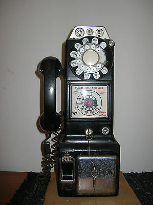 Antique Rotary Dial Pay Phone