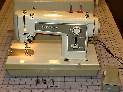 KENMORE ZIGZAG 12271 SEWING MACHINE 158 1227 15812271 WITH CASE 1 AMP MOTOR