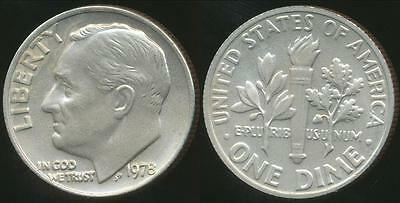 United States, 1978 Dime, Roosevelt - Choice Uncirculated