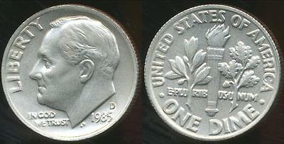 United States, 1985-D Dime, Roosevelt - Choice Uncirculated