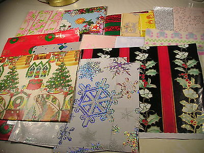 Vintage Wrapping Paper lot Christmas + Jesus loves you + wedding ++