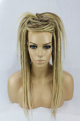 Blonde Mix Synthetic Dread Falls, Hair Pieces, 20 Inches, Unisex.
