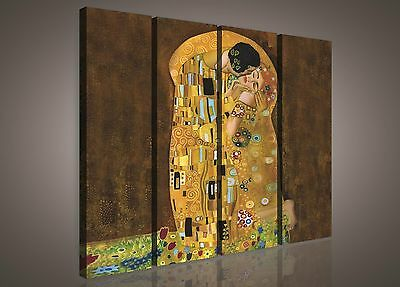 leinwandbild bild wandbild bilder canvas gustav klimt der kuss 144 o1 eur 1 00 picclick de. Black Bedroom Furniture Sets. Home Design Ideas