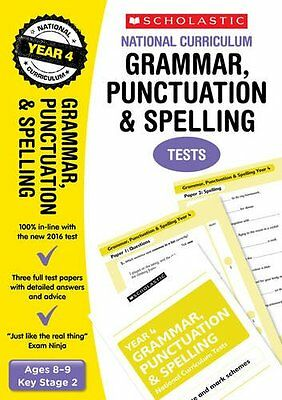Grammar, Punctuation and Spelling Test Year 4 KS2 (National Curriculum SATs)