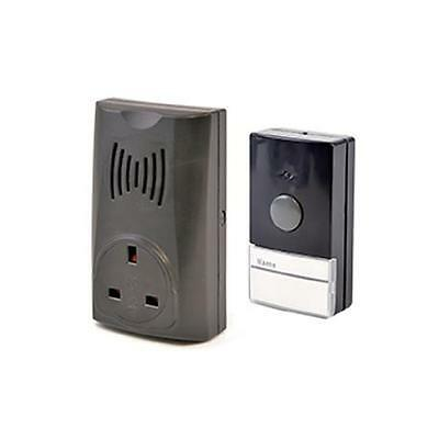 Lloytron B7510 100m 16 Melody Plug-in Receiver Wireless Doorbell With Socket New