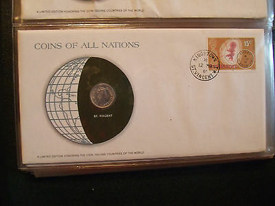 Coins of All Nations East Caribbean States St Vincent 10 cents 1965 UNC