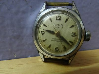 Amin Watch Vintage 17 Jewels Shockproofantimagnetic Woman Watch Wind Up Working