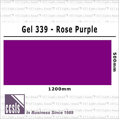 Colour Filter Sheet 339 Rose Purple