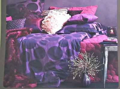 Spot in Sangria Luxurious Quilted Coverlet and Pillow Sham Set QUEEN Aura Home