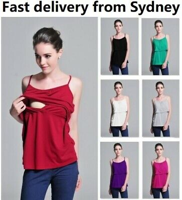 Breastfeeding top,Nursing top,maternity dress,8-18,Polyester,Spaghetti,t-shirt 9