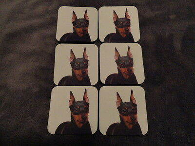 New Miniature Pinscher Set of Six Soft Pliable Coasters much like a mousepad