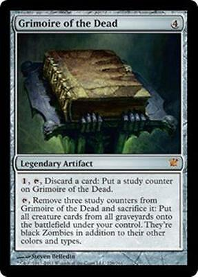 GRIMOIRE OF THE DEAD Innistrad MTG Artifact MYTHIC RARE Zombie