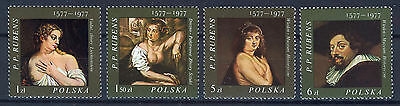 POLONIA/POLAND 1977 MNH SC.2209/2212 Paintings by Rubens