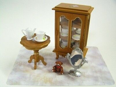 Re-ment dollhouse miniature princess style room cabinet furniture tableware