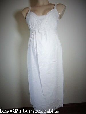 Mothercare Maternity & Nursing White Lace Nightie Size 8 10 12 14 16 18 New