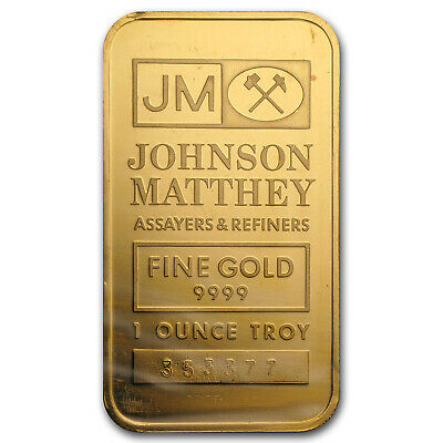 1 oz Gold Bar - Johnson Matthey (Random Design) - SKU #52938