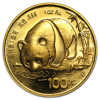 China 1 oz Gold Panda BU (Random Year, Not Sealed) - SKU #12450