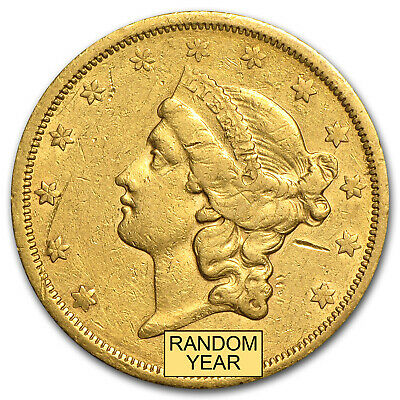 $20 Liberty Gold Double Eagle Coin - Type 2 - Random Year - Cleaned - SKU #61870