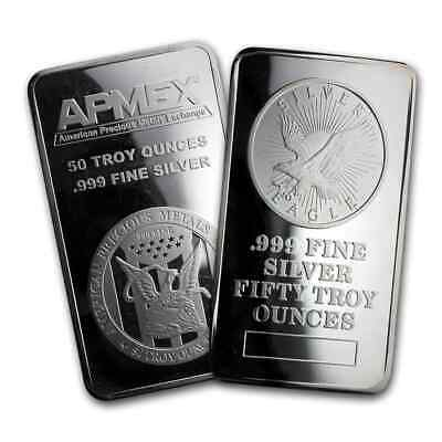 50 oz Silver Bar - Secondary Market - SKU #77405