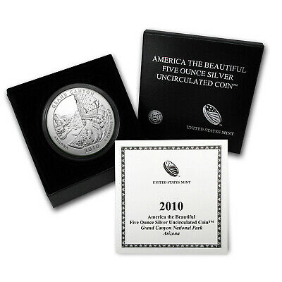 2010-P 5 oz Silver ATB Grand Canyon, AZ - with Box and Certificate