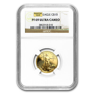 1/4 oz Proof Gold American Eagle PF-69 NGC (Random Year) - SKU #83515