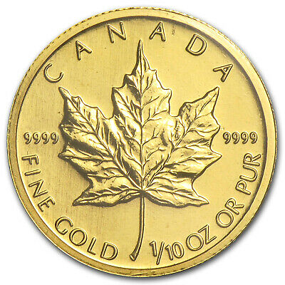 2009 Canada 1/10 oz Gold Maple Leaf BU - SKU #46350