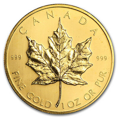 1979 1 oz Gold Canadian Maple Leaf - First Year of Issue - SKU #60881