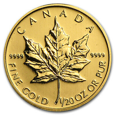 Canada 1/20 oz Gold Maple Leaf (Random Year) - SKU #14450