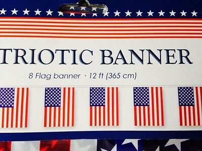 12 ft PATRIOTIC AMERICAN FLAG BANNER, 4th of July, decorations