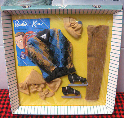 1963 BRAND NEW in BOX~ KEN DOLL~*FUN ON ICE*~NRFB~COMPLETE 9 PcTM SET~SUPER RARE