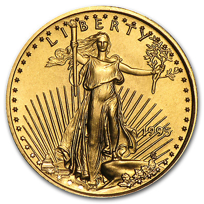 1995 1/10 oz Gold American Eagle BU - SKU #4703