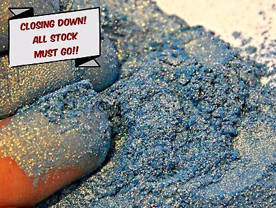 Pearlescent Mineral Mica Powder Pigment 10g - Gold Blue For Candles, Soaps etc