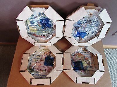 Norman Rockwell FOUR SEASONS Collectible Plates - Complete Set of (4) by Gorham