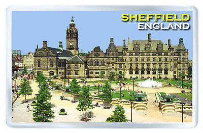 Sheffield England Fridge Magnet Souvenir Iman Nevera