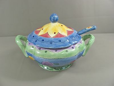Sango China THE SWEET SHOPPE Tureen with Lid and Ladle