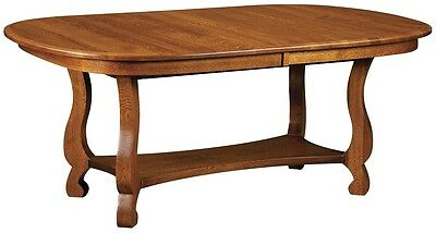 Amish Trestle Dining Table Farmhouse Country Cottage Solid Wood Kitchen