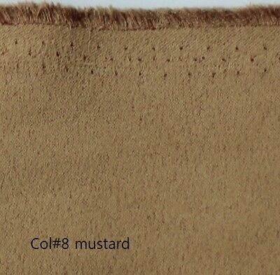 Mustard Both-Side Faux Suede Fabric 280gr/mt 145cms width Off the Roll C#8