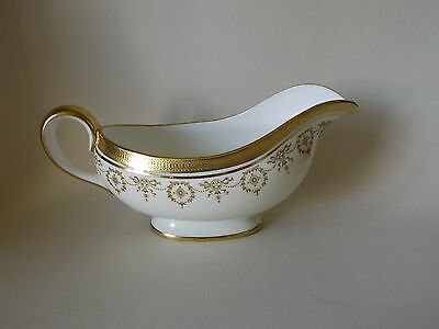AYNSLEY GOLD DOWERY GRAVY BOAT - SEE CONDITION