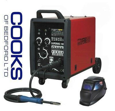 Sealey Supermig180 professional Mig Welder 180amp Comes with PRO AUTO HELMET