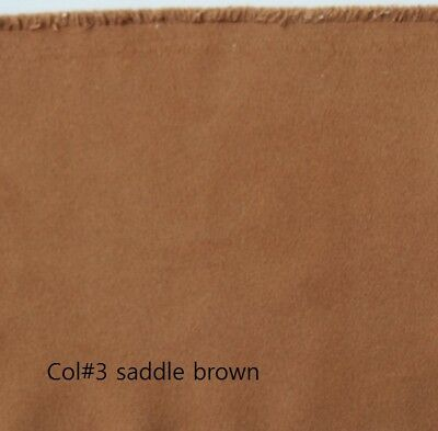 Saddle Brown Both-Side Faux Suede Fabric 280gr/mt 145cms width Off the Roll C#3