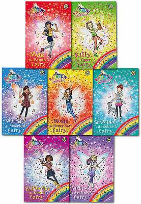Rainbow Magic The Baby Animal Rescue Fairies 7 Books Collection Set (134 to 140)