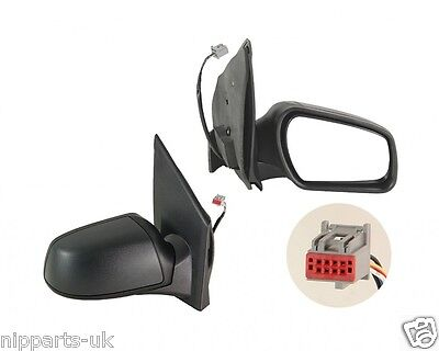 Ford Fiesta 2005-2008 Electric Black Door Wing Mirror  Rh Right O/s Driver Side