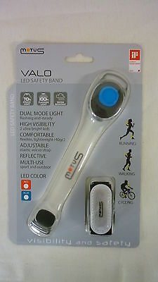 Fascia Led Blu Motus Velo Safety Band Running Walking Bike